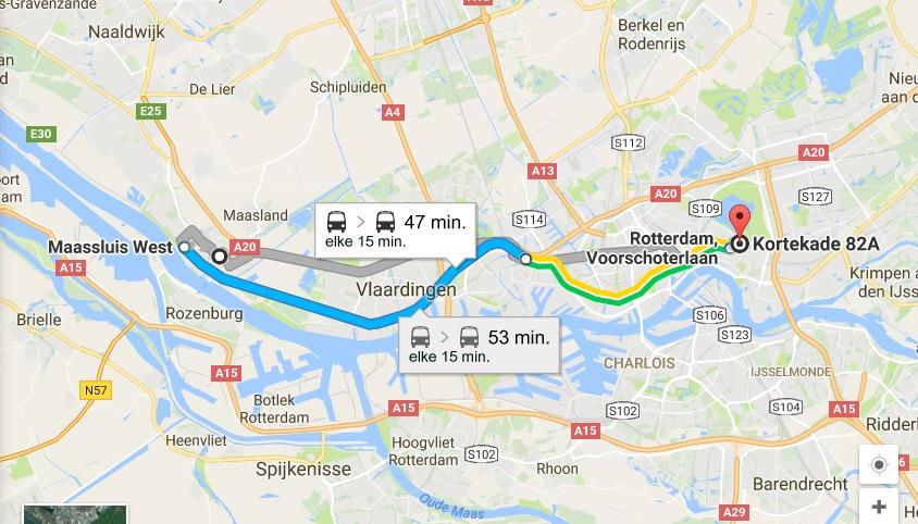 route-openbaar-vervoer-maassluis-rotterdam