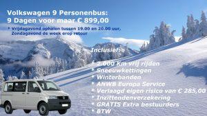 Wintersport Aanbieding Van 't Hart Autoverhuur